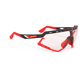 Rudy Project Defender Occhiali, black matte/red fluo - impactx photochromic 2 red